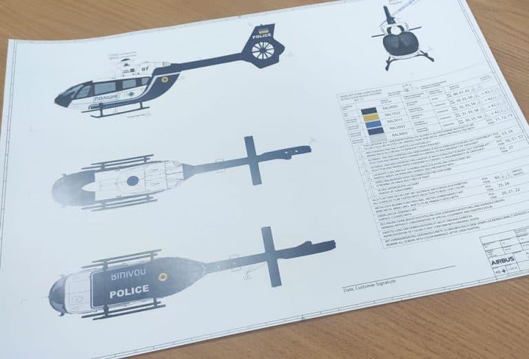 Схема фарбування Н145 для поліції