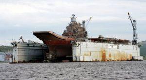 """В Росії все ще оцінють збитки від пожежі на """"Адміралі Кузнєцові"""""""