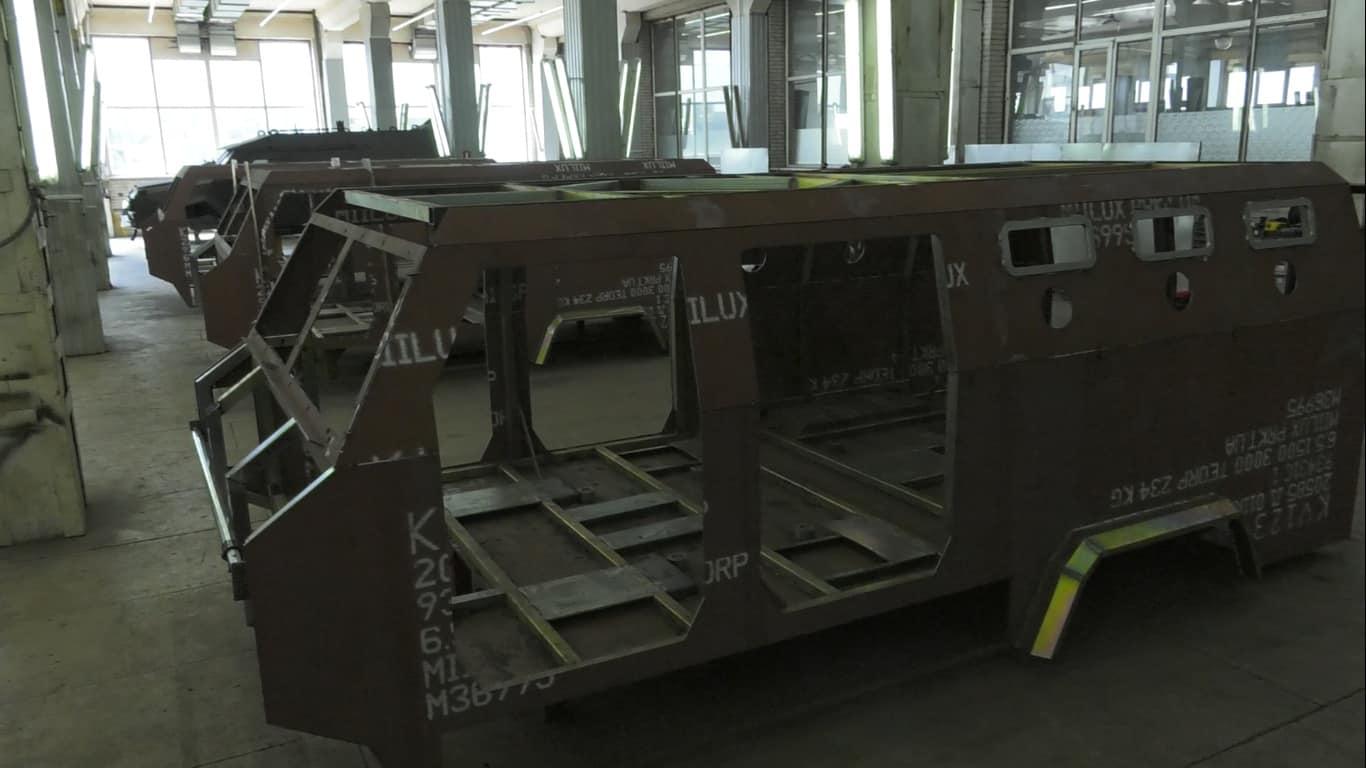 Корпуси Козак-2 у процесі виробництва