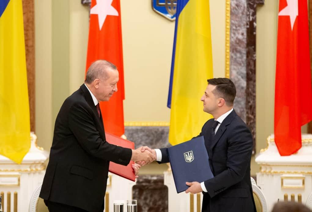 Подписание двустороннего соглашения между президентами Украины и Турции