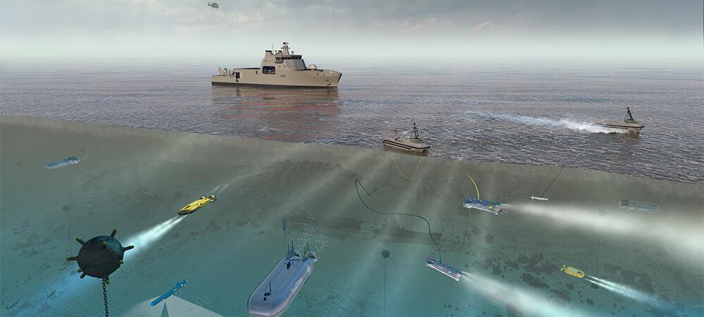 Проектне зображення багатофункціонального корабля BMT Venari-85. Кандидат на роль багатофункціонального корабля для Королівських ВМС Великої Британії