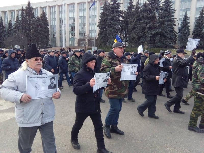Протест ветеранів російсько-молдовської війни 8 лютого 2020 року у Кишеневі 1