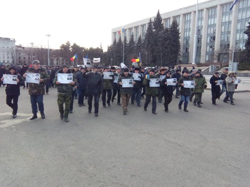 Протест ветеранів російсько-молдовської війни 8 лютого 2020 року у Кишеневі