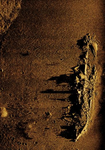 Приклад зображення рельєфу дна, отриманого з сонару бокового огляду, встановленого на A18-M