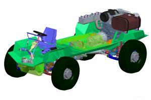 КрАЗ представив самохідне шасі з розташуванням двигуна позаду