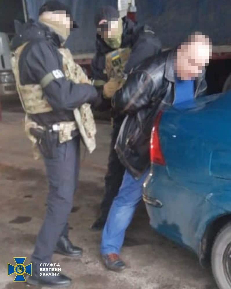 Контррозвідка СБУ затримали агента РФ. Фото: Пресцентр СБУ