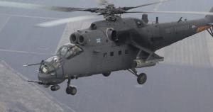 Російський вертоліт Мі-35М обстріляв багатоповерхівку в РФ