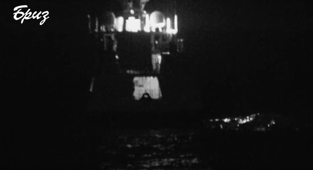 """Корабель """"Безупречний"""", не включаючи ходові вогні, зробив спробу непомітно підкрастися до українського екіпажу"""