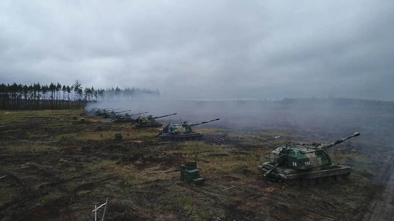 2С19М1 «Мста-С» 1-ї танкової армії