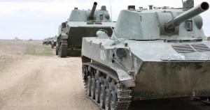Окупанти показали військову техніку на навчаннях у Криму