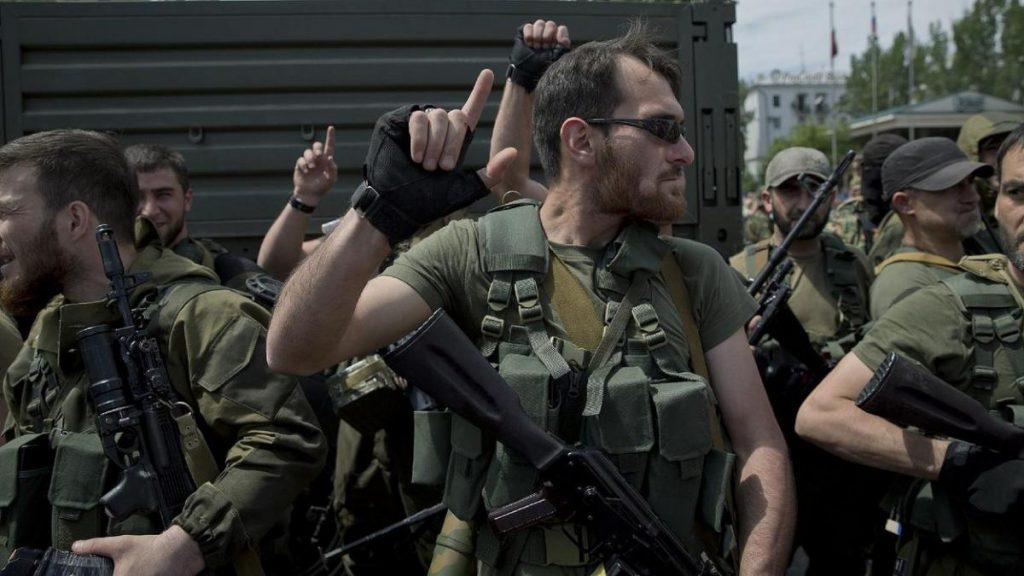 Чеченці в Донецьку. Травень 2014 рік.