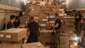 Іл-76 ЗСУ завантажується медичним вантажем у Китаї
