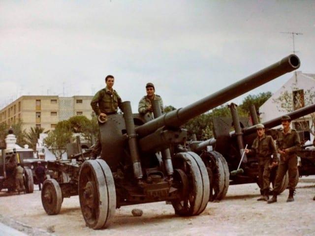 122-мм гармати А-19 в Іспанії