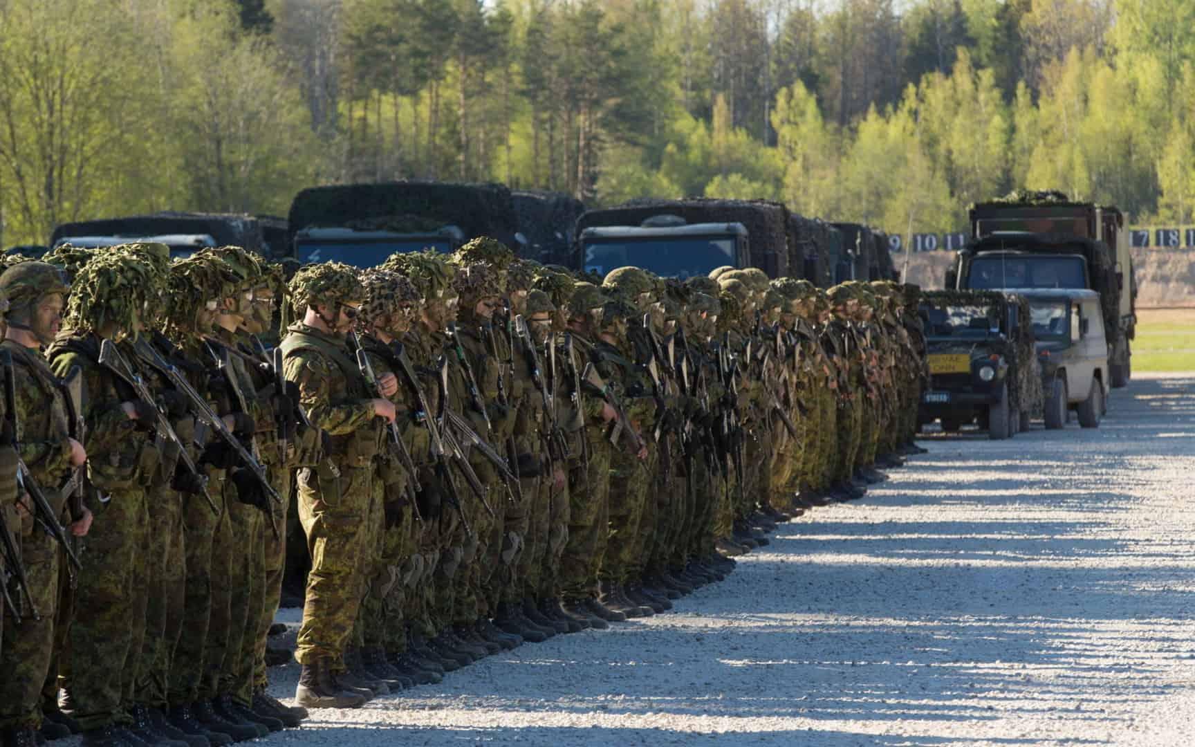 Естонські військовослужбовці на маневрах Kevadtorm 1
