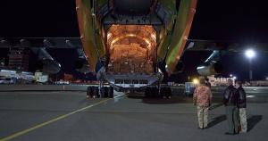 Військовий Іл-76МД доставив тести на коронавірус з Китаю в Україну