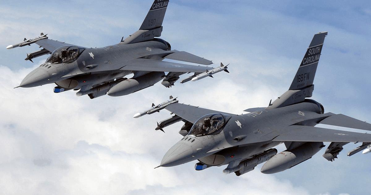 F-16 ВС США.  Фото из свободных источников