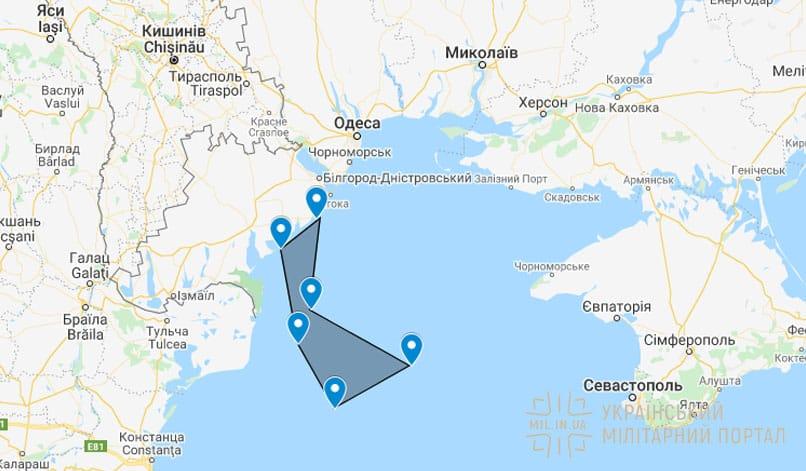 Район перекритий для пусків Нептуна 2-4 квітня 2020 року