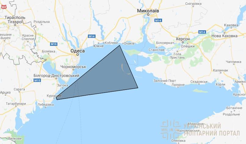 Район перекритий для пусків Вільхи 31 березня 2020 року