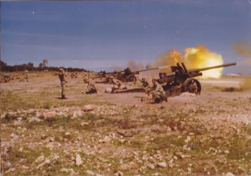 Стрільба з буксованої гармати А-19