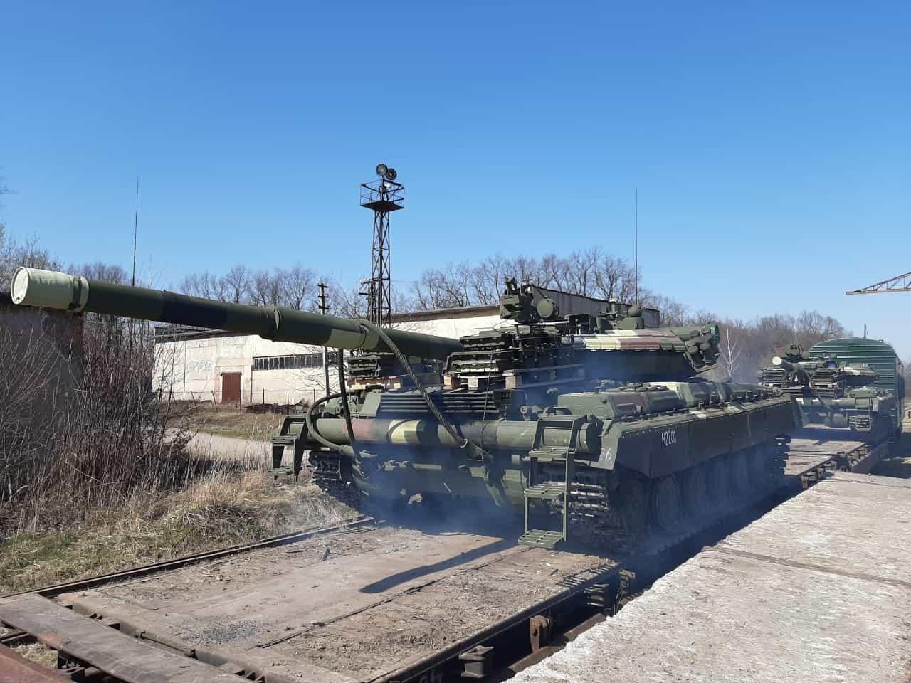 Танки Т-64 відремонтовані та модернізовані на ЛБТЗ