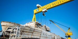 В США спустили на воду майбутній десантний транспорт-док