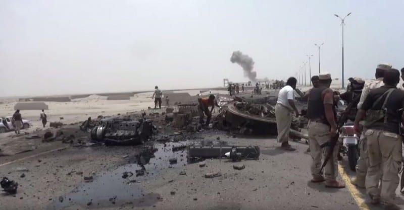 Уламки БМП-3 ОАЕ підірваної на протитанковій міні в Ємені