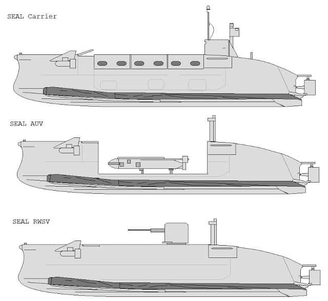 Варіанти оснащення Seal Carrier