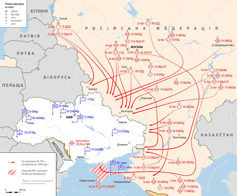 Вторгнення російських військ до Криму та початок навчань на кордоні з Україною. Початок березня 2014 року