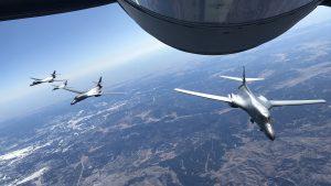 США тренуються: одразу чотири B-1 Lancer працювали в небі