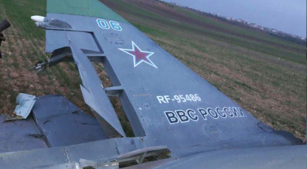 Збитий 3 лютого 2018 року Су-25 Росії.