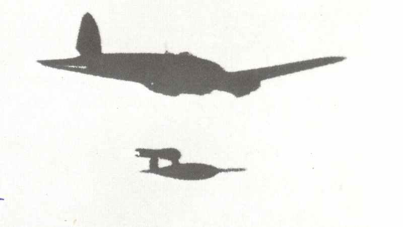 Запуск ракети Fi-103 з борта літака He-111