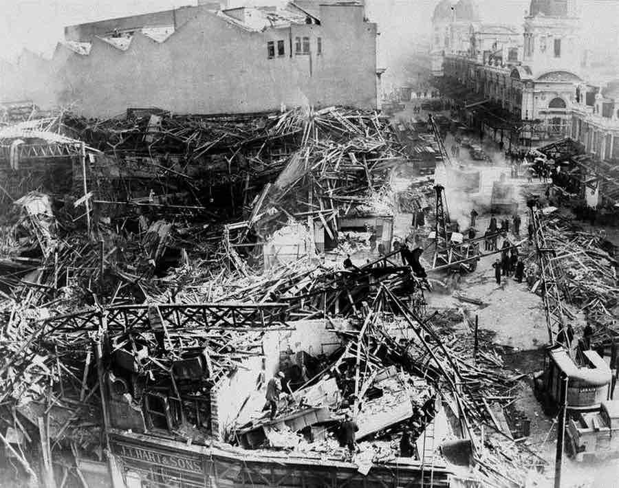 Наслідки бомбардувань ракетами Fi-103, Лондон, літо 1944 року