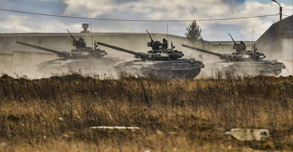Т-90. Тренування парадних розрахунків. Березень 2020. Фото з соціальних мереж.