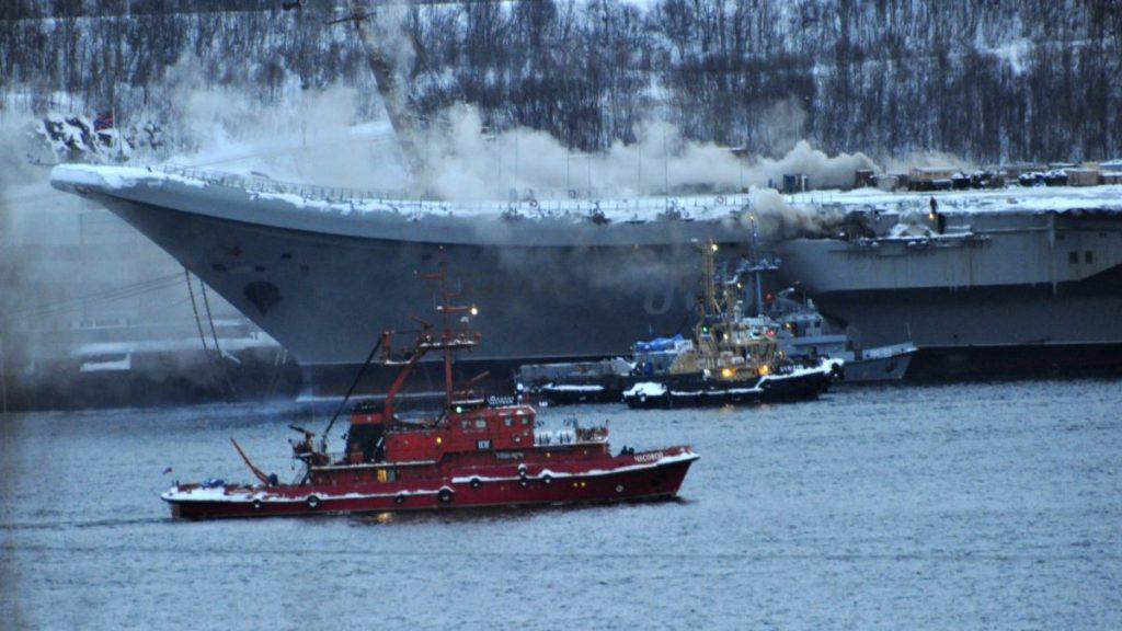 """Пожежа на """"Адміралі Кузнецов"""". Фото з відкритих джерел"""