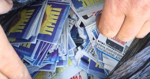 На Донецьк скинули патріотичні листівки