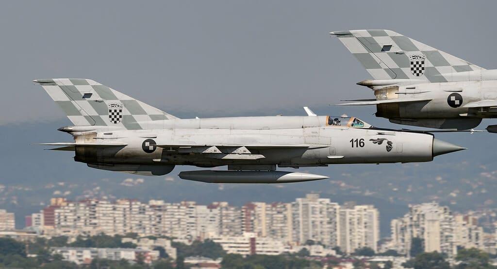 МіГ-21 Хорватії. Фото: flickr.com