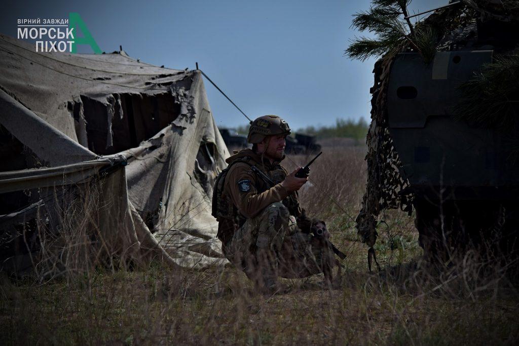 Військові на навчаннях морської піхоти ЗСУ. Фото: 36 ОБрМП