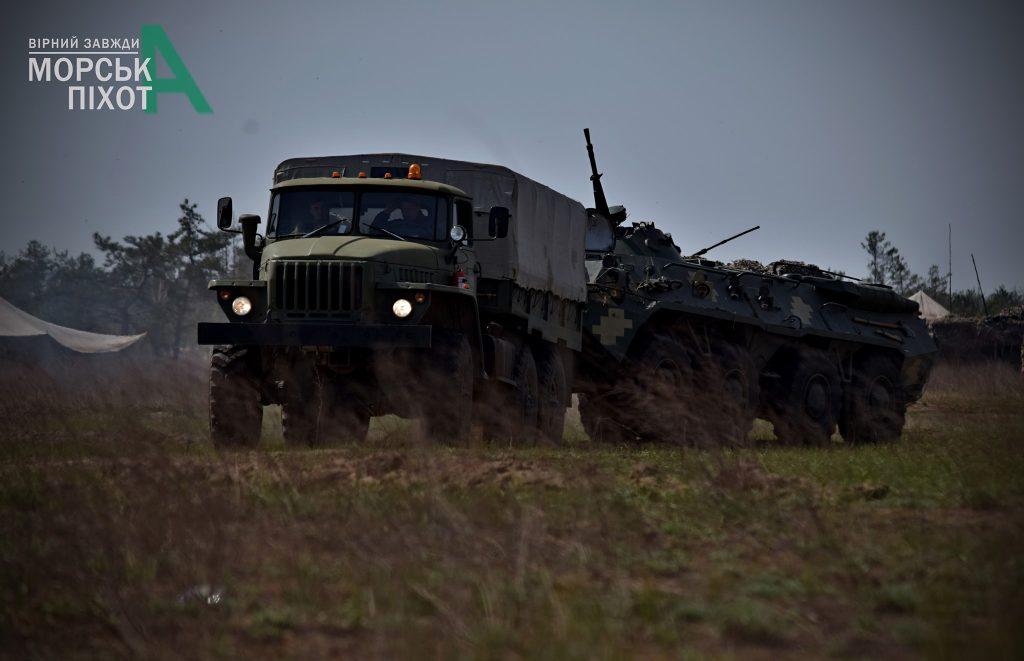 Навчання морської піхоти ЗСУ. Фото: 36 ОБрМП