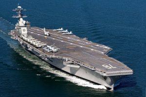 Авіаносець USS Gerald R. Ford завершив тестування бойових систем