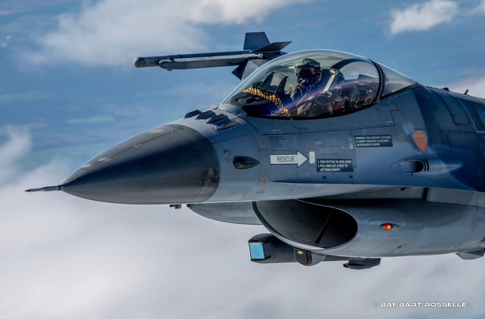 Бельгійський багатоцільовий літак F-16