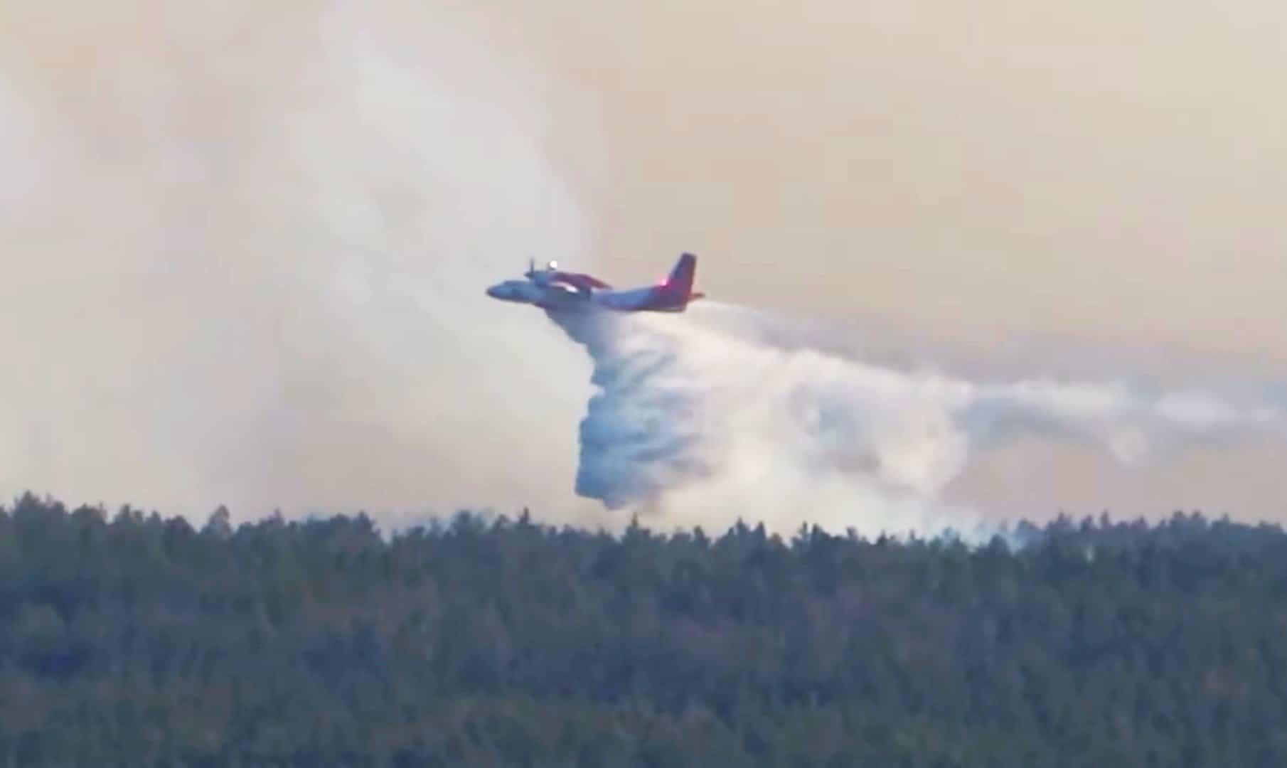 Гасіння пожежі літаком Ан-32П