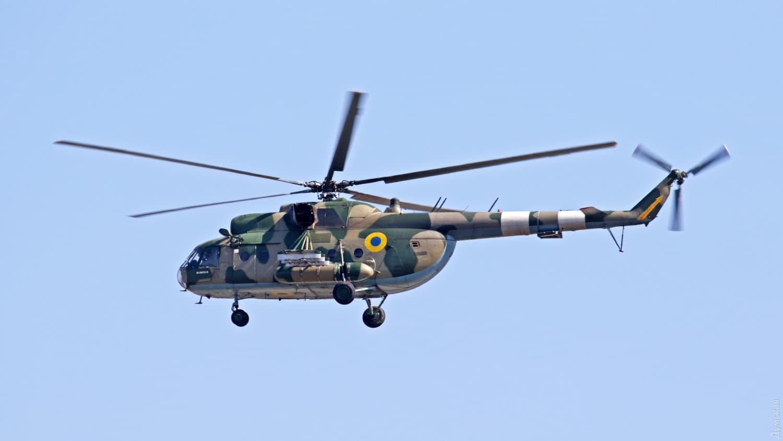 Гелікоптер Мі-8МСБ-В після зльоту в Одесі