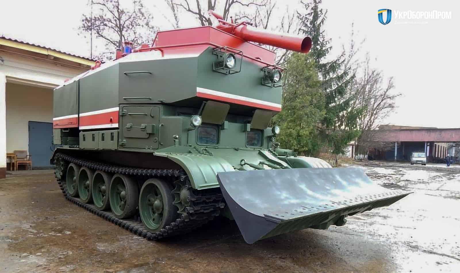Гусенична броньована пожежна машина ГПМ-54.