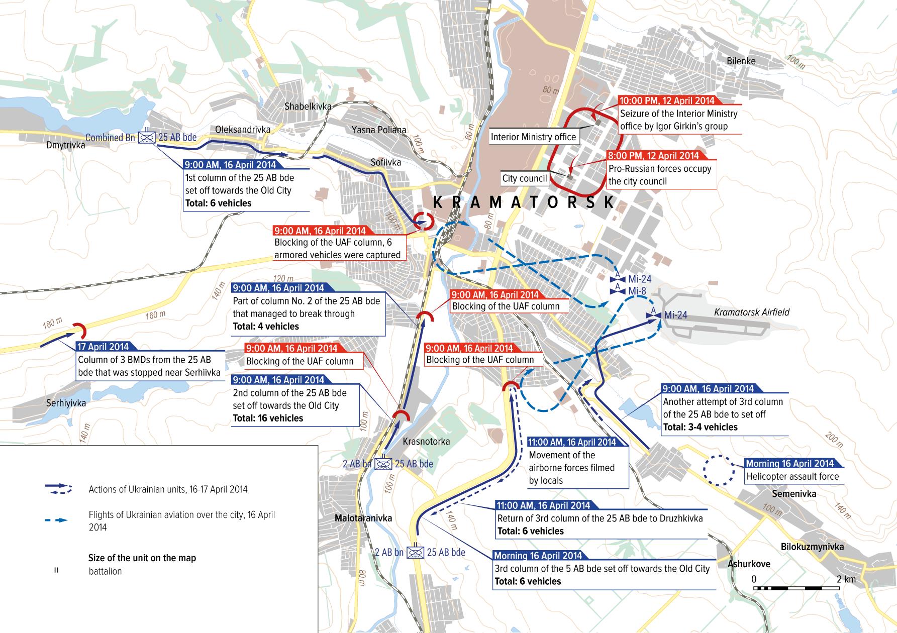 The situation in Kramatorsk. 16 April 2014.
