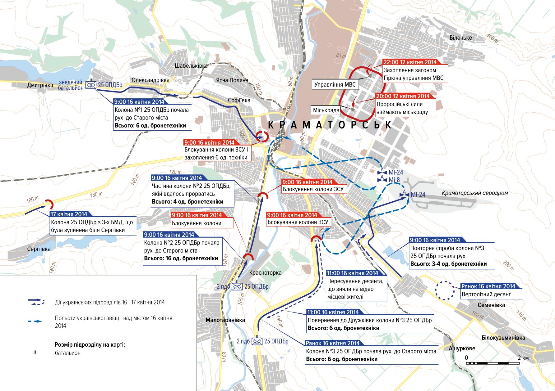 Ситуація у Краматорську. 16 квітня 2014.