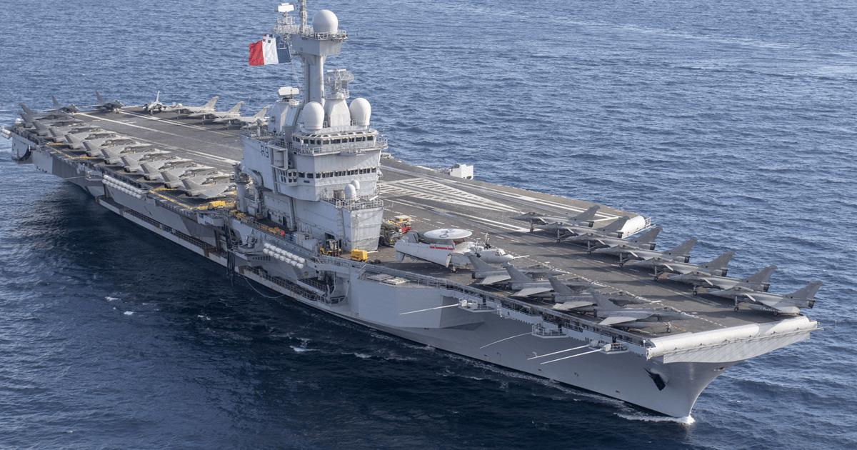 Авіаносець Франції Charles de Gaulle. Фото: French Navy