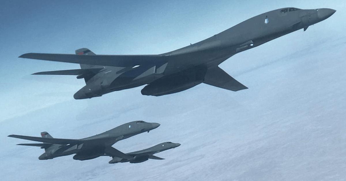 Бомбардувальник B-1 Lancer. Фото: Натан Нейдхардт. Березень 2020 року