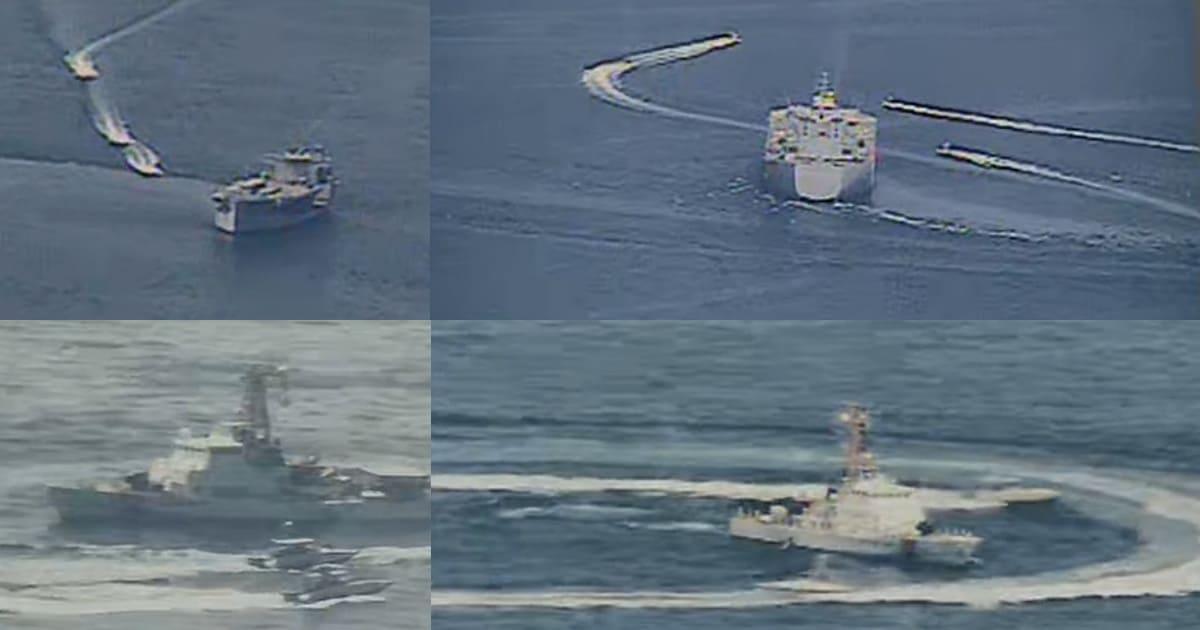 Провокації іранських катерів проти кораблів та катерів США