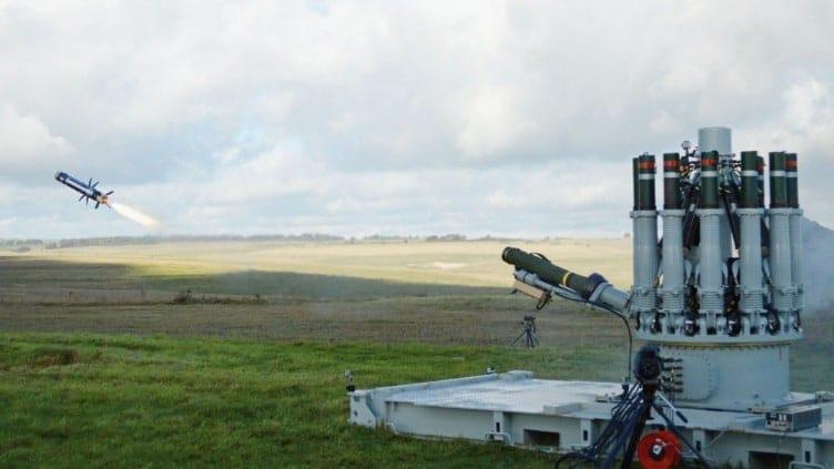 Пуск Javelin з пускової установки Centurion.