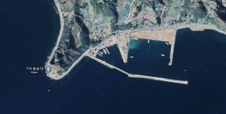 Стан будівництва інфраструктури на віддаленому острові Уленгдо Південної Кореї